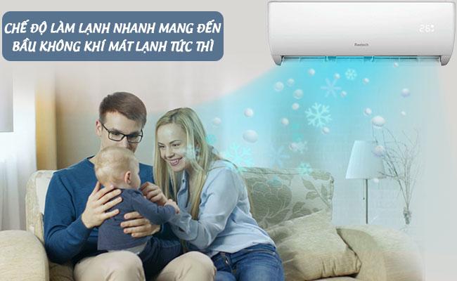 Chế độ làm lạnh nhanh trên máy lạnh Reetech RT18-TA-A