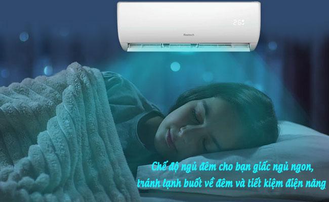 Chế độ ngủ đêm máy lạnh Reetech
