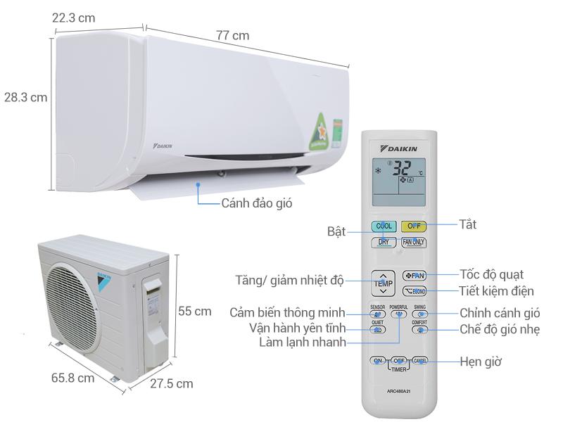 Máy lạnh Daikin được nhập khẩu nguyên chiếc từ Thailand