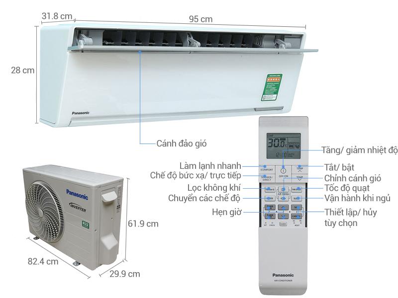 Máy lạnh Panasonic nhập khẩu nguyên chiếc từ Malaysia