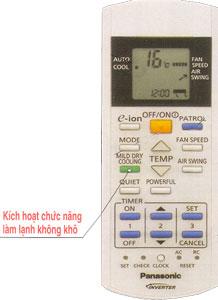 May lanh Panasonic nut dieu khien remote